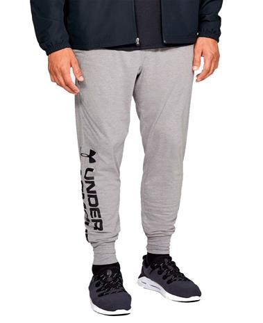 Under Armour Sportstyle Cotton Graphic Jogger - Housut - Harmaa - S