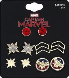 Captain Marvel Logo Nappikorvakorusetti kulta