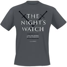 Game Of Thrones Nights Watch T-paita hiilenharmaa