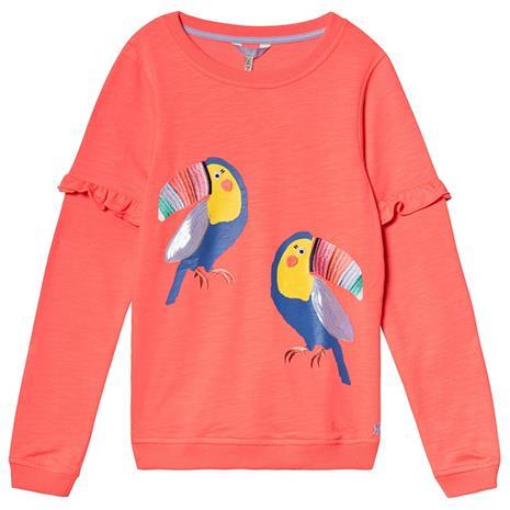 Orange Sequin Parrot Sweatshirt11-12 years