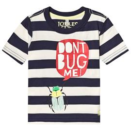 Navy and White Stripe Glow in the Dark Bug Tee1 year