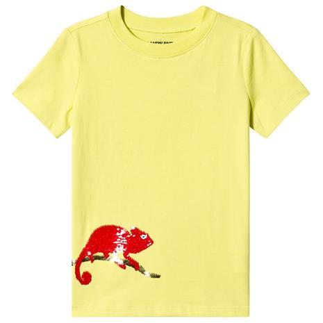 Yellow Unisex Sequin Chameleon Tee4 years