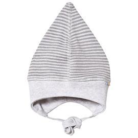 Helmet, single layer Striped Knit Grey