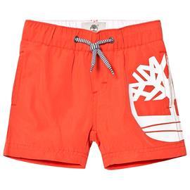 Orange Timberland Tree Logo Swimming Shorts16 years
