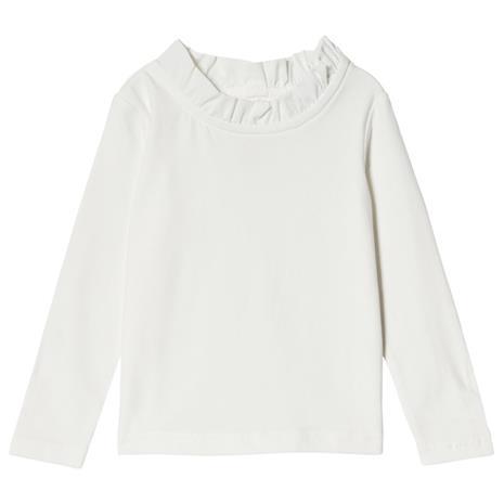 T-Paita Pitsikauluksella Off-White104/110 cm