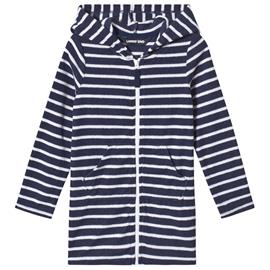 Navy and White Stripe Hooded Beach Cover Up4 years