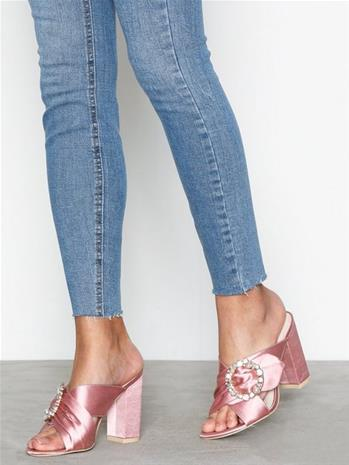 NLY Shoes Satin Embellished Mule