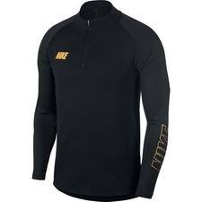 Nike Harjoituspaita Dry Squad 19 - Musta/Kulta