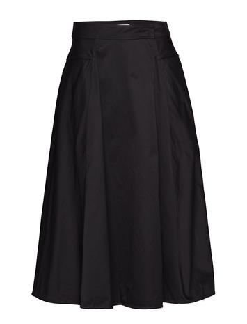 Calvin Klein Cotton Drill Wrap Skirt Musta