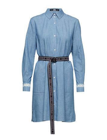 Karl Lagerfeld Shirt Dress W/Logo Belt Sininen