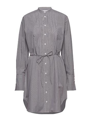 Calvin Klein Mini Gingham Pintuck Dress Ls Harmaa
