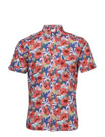 Knowledge Cotton Apparel Light Poplin Shirt - Short Sleeved Sininen