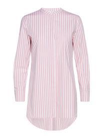 Coster Copenhagen Long Shirt W. Stripes Vaaleanpunainen