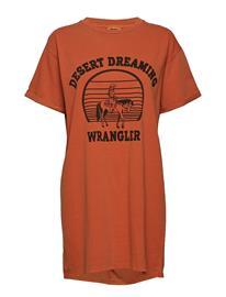 Wrangler Tee Dress Oranssi