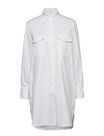 Calvin Klein Police Pkt Tunic Dress Ls Valkoinen