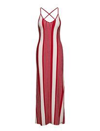 Superdry Azur Stripe Maxi Dress Punainen
