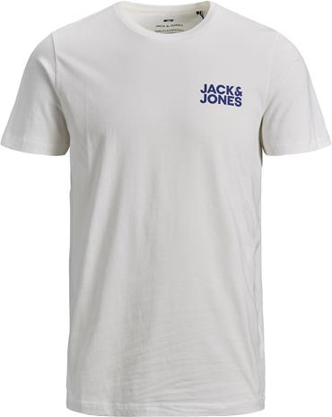 Jack & Jones Corp Crewneck T-Paita, Cloud Dancer 128