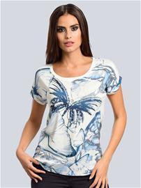 """Alba Moda"""" """"Kuvioitu paita Valkoinen::Sininen"""
