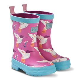 Pink Graceful Hummingbirds Rain Boots30 (UK 11/ US 12)