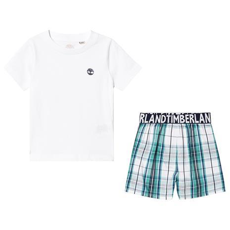 White And Green Checked 2 Piece Pyjama Set8 years