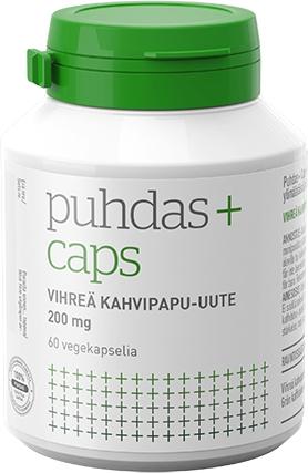 Puhdas+ Vihreä kahvipapu-uute 200 mg 150 + 40 kaps. 10/2020