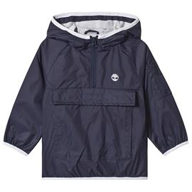 Navy Windbreaker With Timberland Logo Back Detail2 years