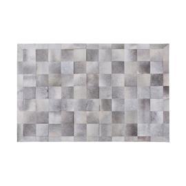 Beliani Harmaa nahkamatto 160x230 cm ALACAM