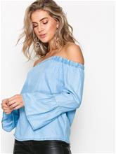 Only onlSANDY Off Shoulder Dnm Top Box
