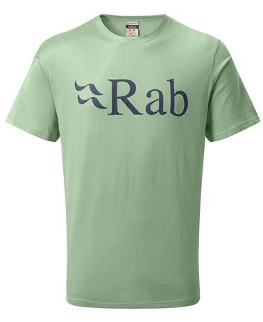 Rab Stance Logo - T-paita - Silverpine - M