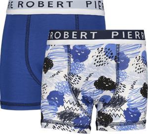 Pierre Robert K COTTON BOXER 2P LIGHT BLUE/BLUE
