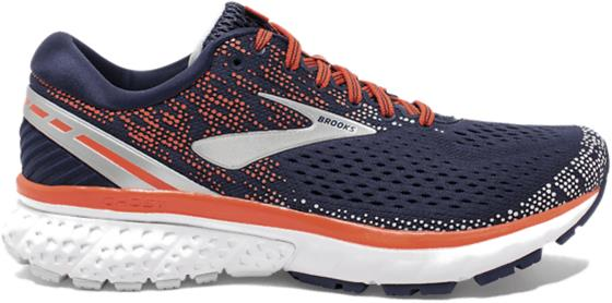 Brooks W GHOST 11 NAVY/CORAL/GREY