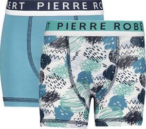 Pierre Robert K COTTON BOXER 2P MINT/PETROL