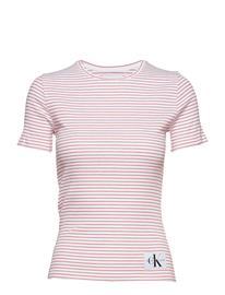 Calvin Klein Jeans Rib Tee Vaaleanpunainen
