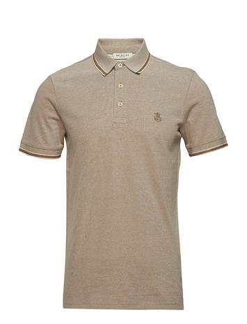 Selected Homme Slhtwist Ss Polo W Noos Ruskea