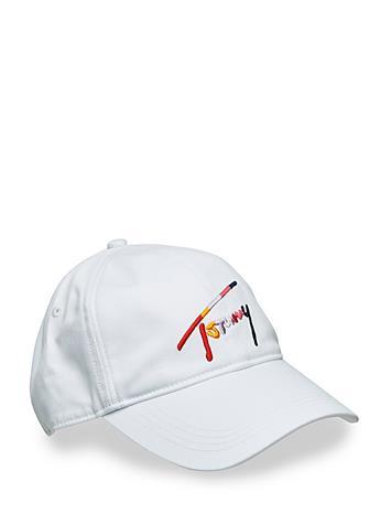 Tommy Hilfiger Tjw Multicolor Signature Cap Valkoinen