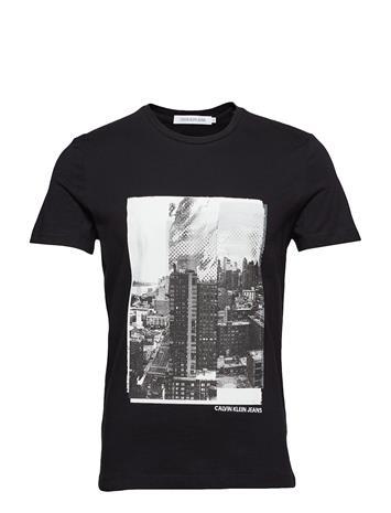 Calvin Klein Jeans Landscape Graphic Slim Ss Tee Musta