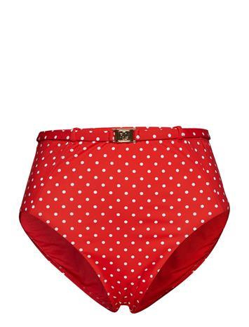 Lauren Ralph Lauren Swimwear Pin Dot Hi Waist Belted Pant Punainen