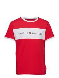 Tommy Hilfiger Cn Ss Tee Logo Flag Punainen