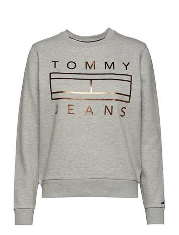 Tommy Jeans Tjw Metallic Crew Harmaa