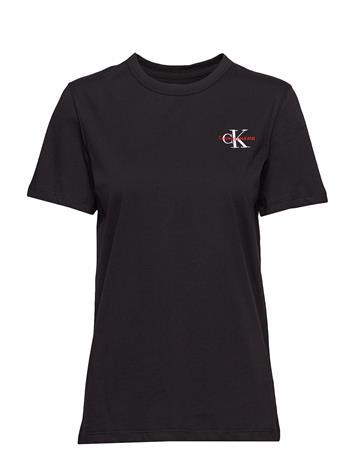 Calvin Klein Jeans Monogram Embroidery Straight Tee Musta