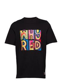 Whyred Foxton Color Print Musta