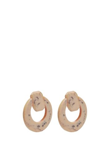 Mango Resin Pendant Earrings Keltainen