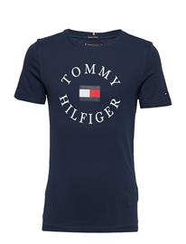Tommy Hilfiger Essential Tommy Graphic Tee P2 Sininen