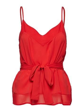 French Connection Crepe Light Solid Belted Cami Punainen