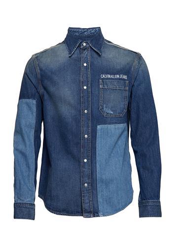 Calvin Klein Jeans 1 Pkt Utility Shirt Sininen