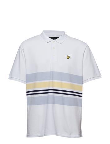 Lyle & Scott Pique Stripe Polo Shirt Valkoinen