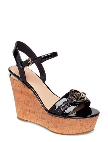 GUESS Gesina2/Zeppa (Wedge)/Leather Musta