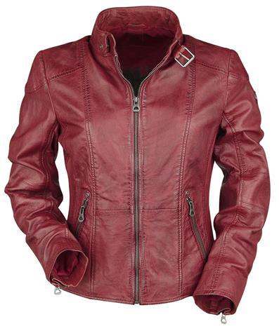Gipsy Kina LEGV Naisten nahkatakki punainen