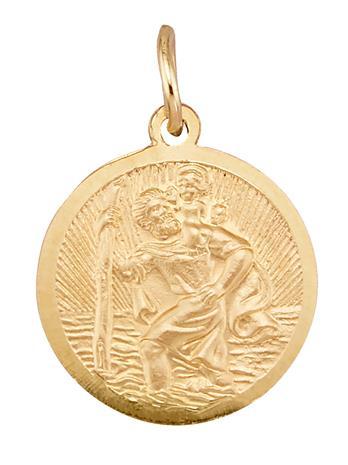 """Diemer Gold"""" """"Pyhä Kristoforos -riipus kullanvärinen"""