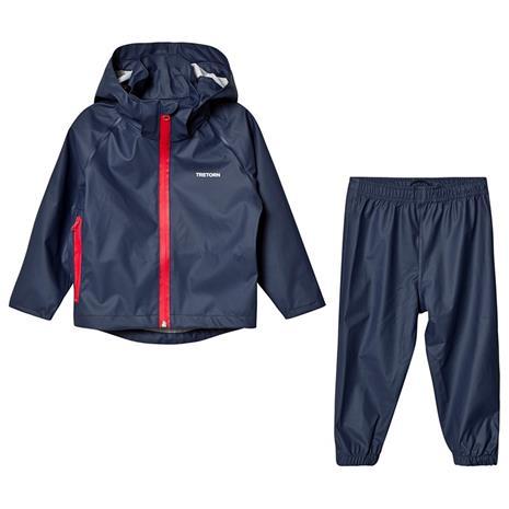 Kids Packable Rainset Navy110/116 cm